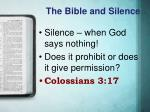 the bible and silence