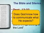 the bible and silence3