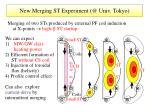 new merging st experiment @ univ tokyo