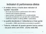 indicatori di performance clinica
