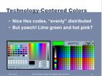 technology centered colors