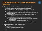 cuda restrictions task parallelism extended