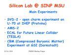 silicon lab @ sinp msu2