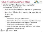 crue tic workshop april 2010
