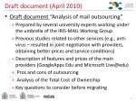 draft document april 2010