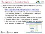 the experience of university of deusto