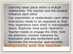 reciprocity and the teacher