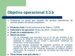 objetivo operacional 3 3 b1