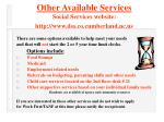 other available services social services website http www dss co cumberland nc us