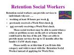 retention social workers
