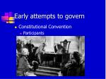 early attempts to govern3