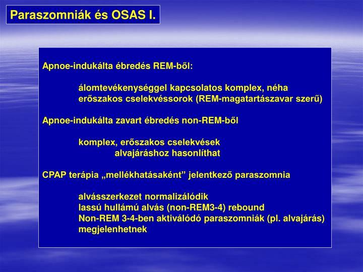 Paraszomniák és OSAS I.