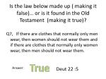 is the law below made up making it false or is it found in the old testament making it true6