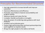 principles for recommended structure