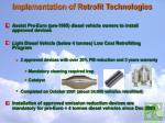 implementation of retrofit technologies