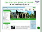 interaktywny portal turystyczny www egoturystyka pl