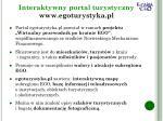 interaktywny portal turystyczny www egoturystyka pl1