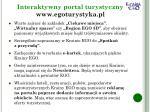 interaktywny portal turystyczny www egoturystyka pl2