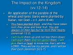 the impact on the kingdom vv 12 141