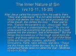 the inner nature of sin vv 10 11 15 20