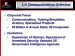 l 3 communications overview