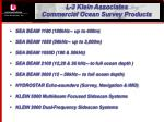 l 3 klein associates commercial ocean survey products