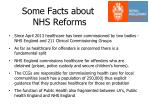 some facts about nhs reforms