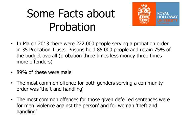 some facts about probation n.