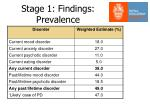 stage 1 findings prevalence