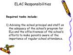 elac responsibilities