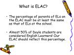 what is elac1