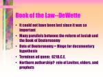 book of the law dewette
