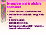 terminology used in scholarly discussions