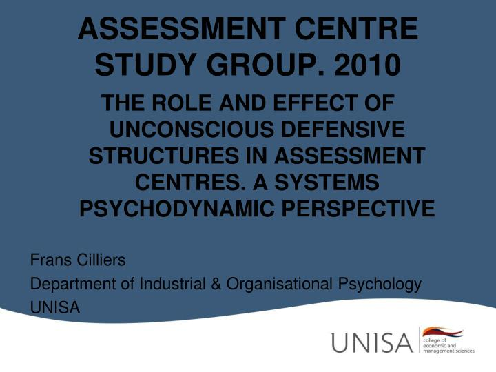 assessment centre study group 2010 n.