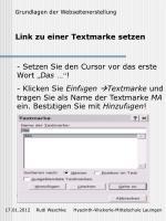 link zu einer textmarke setzen