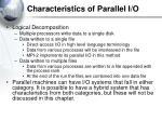 characteristics of parallel i o3