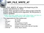 mpi file write at