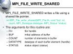 mpi file write shared