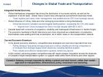 changes in global trade and transportation