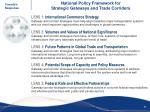 national policy framework for strategic gateways and trade corridors1