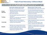 public private partnership a different model