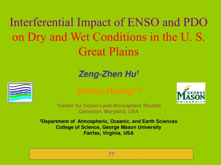 Interferential Impact of ENSO and PDO