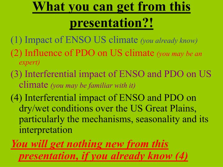 What you can get from this presentation