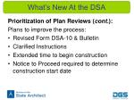 what s new at the dsa3