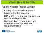 what s new at the dsa4
