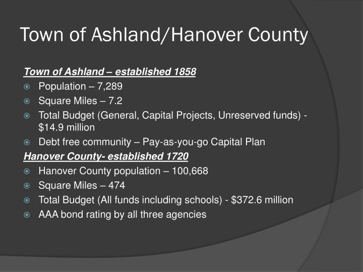 Town of ashland hanover county