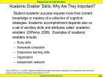 academic enabler skills why are they important