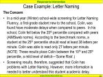 case example letter naming