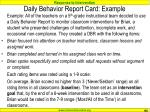 daily behavior report card example