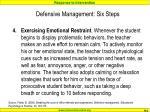 defensive management six steps3